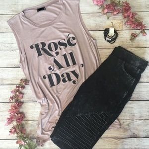 Tops - NEW Rosé All Day Sleeveless Tank Top Pink 